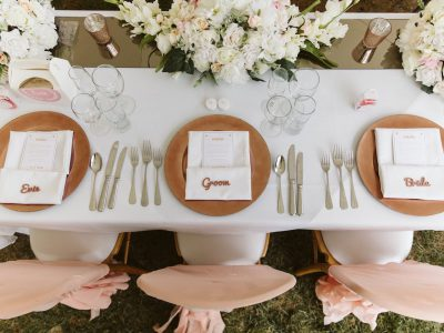 Beautiful place settings for your Algarve Wedding, Villa weddings in Portugal - Casa Monte Cristo Villas
