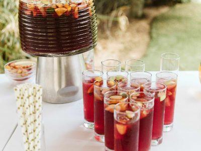 Aperitifs and Sangria at Casa Monte Cristo wedding venue near Lagos, Algarve Portugal.