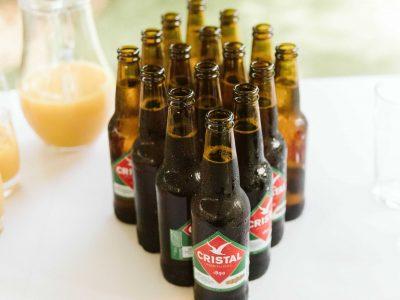 Beer display for a wedding at Casa Monte Cristo Villas in the Algarve