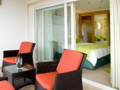 Terrass till ett dubbelrum på Villa Monte Cristo Too, lyxvilla semester, Lagos, Algarve, Portugal