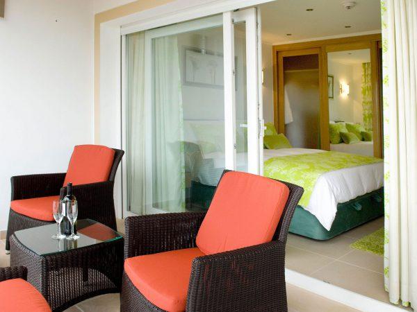 Terrace to a double bedroom at Villa Monte Cristo Too, Luxury Villa holidays, Lagos, Algarve, Portugal