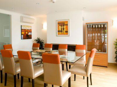 Sala de Jantar na Villa Monte Cristo Too, Férias de Luxo, Lagos, Algarve em Portugal