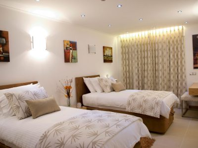 luxury twin bedroom at Villa Casa Monte Cristo Too, Villa Holidays in Lagos, Algarve, Portugal