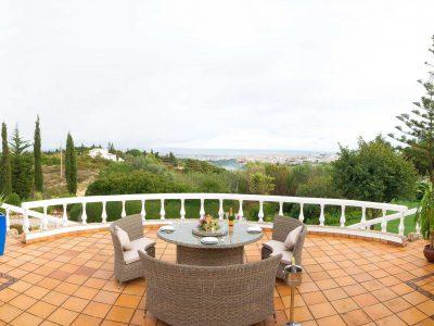 Utsikt från terrassen vid Villa Casa Monte Cristo Tres, Lagos, Algarve Portugal - Lyxvilla med pool