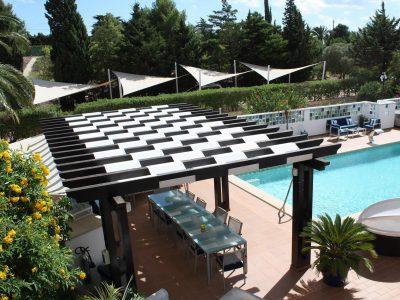 Zona de restauração exterior Lagos, Algarve, Apartamentos - Colecção Casa Monte Cristo, Praia de luz