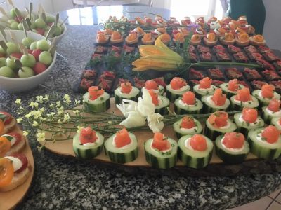buffet display for a bespoke wedding package at a Villa venue in Lagos, Algarve, Portugal - Casa Monte Cristo Collection