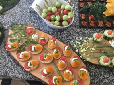 Canapes from one of your wedding packages at Luxury Villa venue, Lagos, Algarve, Portugal