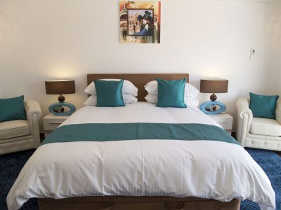 Quarto duplo azul na Villa Monte Cristo Too, Lagos, Algarve, Portugal