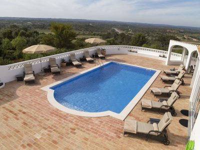 View from above - Swimming pool, luxury villa Lagos, Algarve, Villa Monte Cristo IV, Portugal