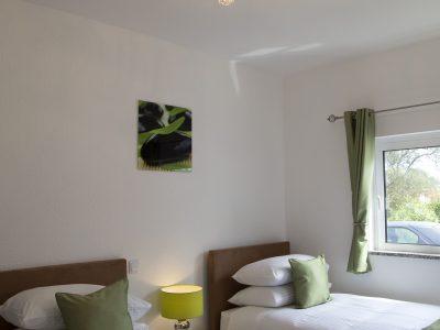 quarto duplo em verde - Luxuosa vivenda algarvia perto de Lagos - Casa Monte Cristo Seis, Portugal