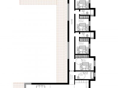 Plano da planta da Villa Casa Monte Cristo Seis em Lagos Algarve - Moradias de luxo com piscina em Portugal