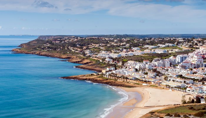 Beach at Praia da Luz, luxury Algarve villa holidays in Portugal with Casa Monte Cristo Villas